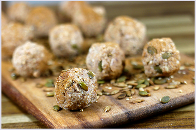 Cinnamon and Pumpkin Seed Protein Balls